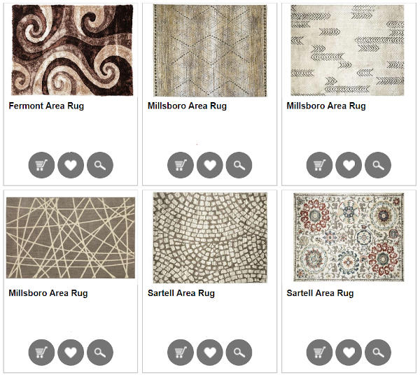 Six different rugs for home and office - Olympia Furniture (Salt Lake Store)