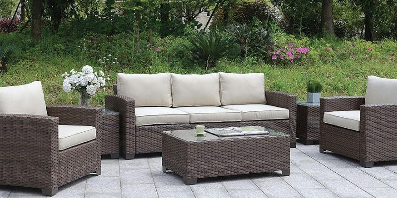 Outdoor Furniture wicker Sofas, Coffee Table and end tables; Olympia Furniture West Valley